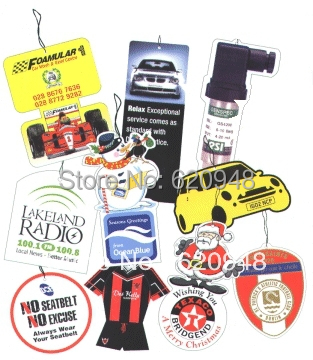 DHL Free shipping , Wholesale Paper Air Freshener , Hanging Paper Perfume,Car air freshener,Paper car air freshener(China (Mainland))