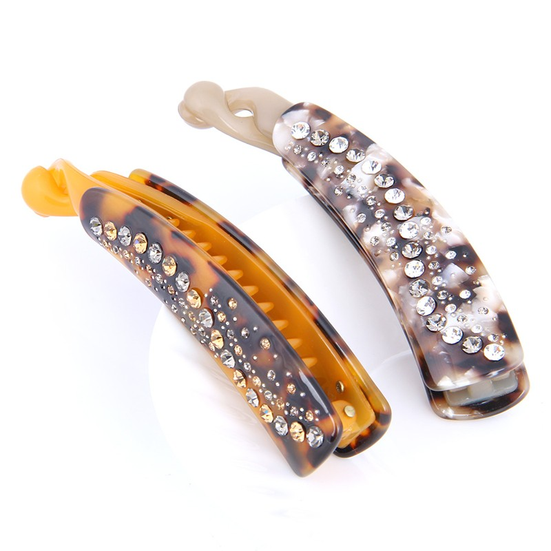 2016 New Hot Fashion Rhinestone Banana Hair Clips Barrette Crystal Hair Clip For Women Girls Hair Jewelry Accessories (AG830007)