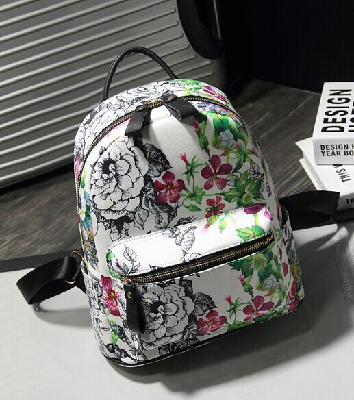 Качество ручная роспись граффити мода пу рюкзак, Подиум модели эксклюзивный дизайн роскошные женщины сумку, Лето новая сумка