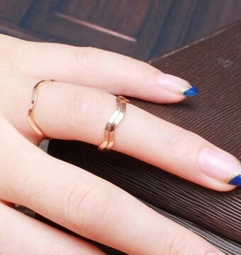 JZ253 Korean jewelry simple and elegant and generous couple on the ring tail ring pinkie ring joints(China (Mainland))