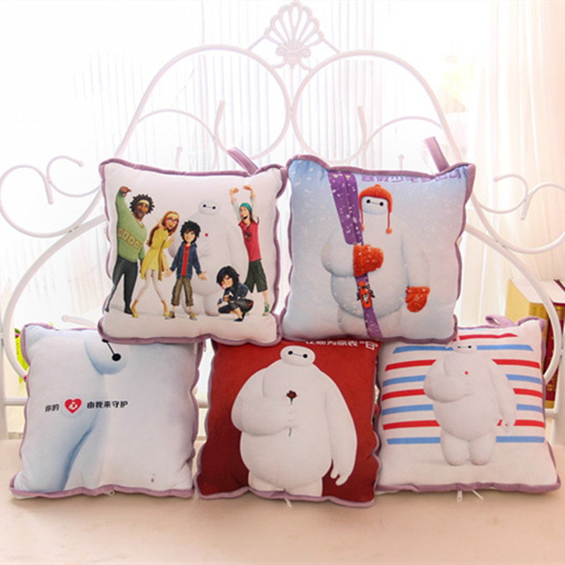 Cute cartoon white summer dual-purpose pillow coral carpet plush toys children air conditioning is mother's Day gift(China (Mainland))