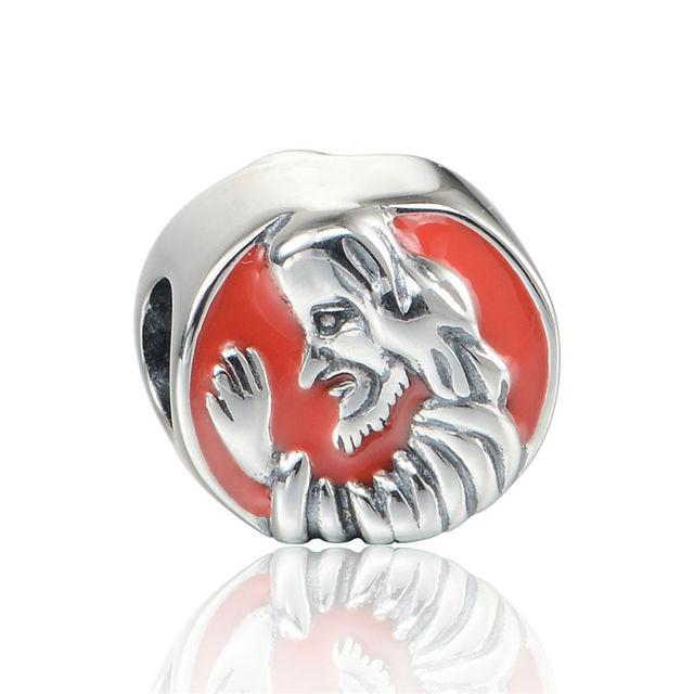 925 - серебристо-ювелирные бусины D130 красной эмалью пасха человек Fit Chamilia пандора браслет серебро 925 ювелирных изделий DIY