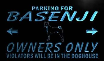 n121-b Basenji Owner Parking Only LED Neon Light Sign Wholesale Dropshipping
