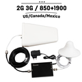 T mobile AT T Bell Rogers CDMA GSM 850 PCS 1900 65dB Gain Cell Phone Signal