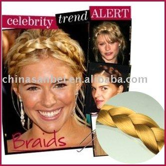 Faux wig braided hair band Plaited Plait Elastic Headband Hairband headbands(China (Mainland))