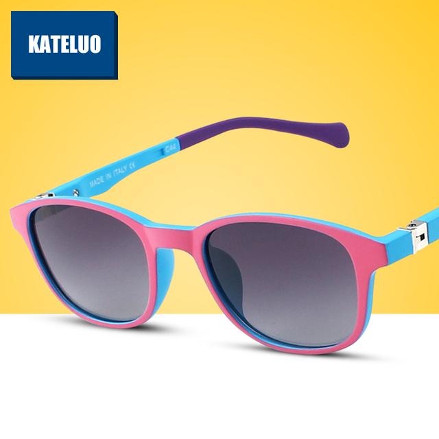 Tr90 детская поляризовыванная детей очки ребенок дети солнцезащитные очки UV400 солнцезащитные очки мальчик девочек симпатичные прохладное очки S1022