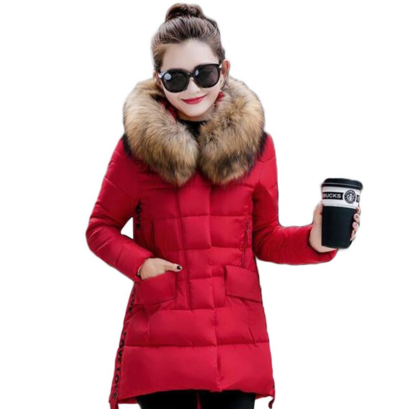 winter jacket women 2016 fashion new large size High quality Fur collar hooded padded jacket duck down jacket warm winter coat(China (Mainland))