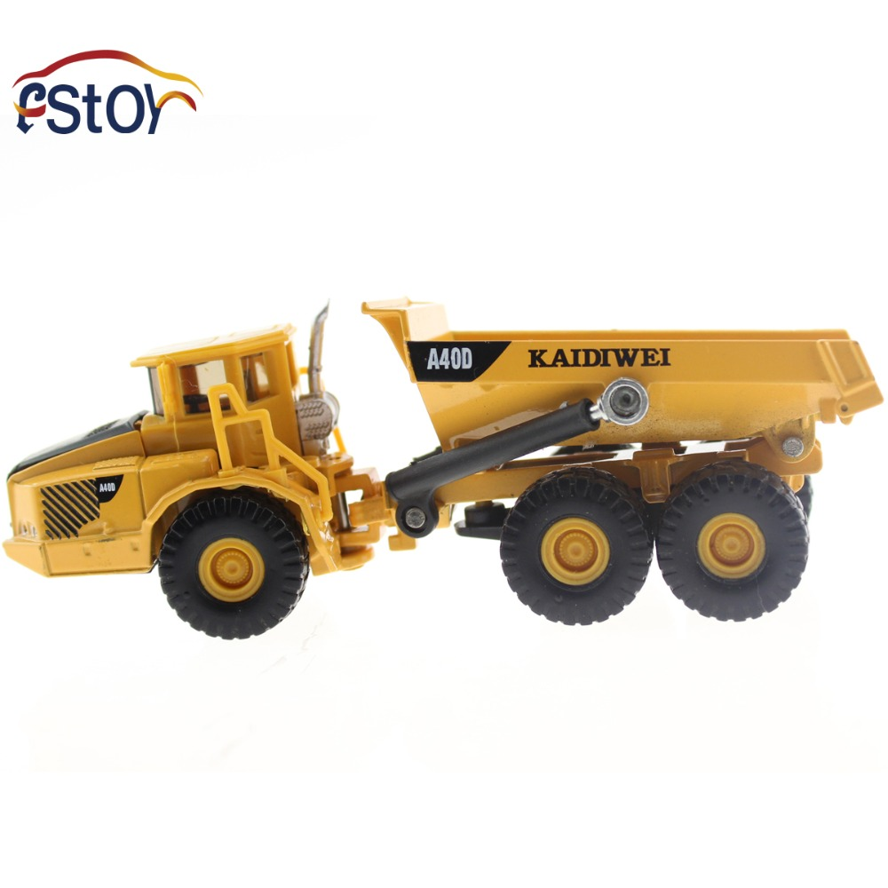 Metal Alloy Diecast Toy Dumper Truck Model Volvo A40D Truck 1:87 Tilting Cart Engineering Truck Collection Toys(China (Mainland))
