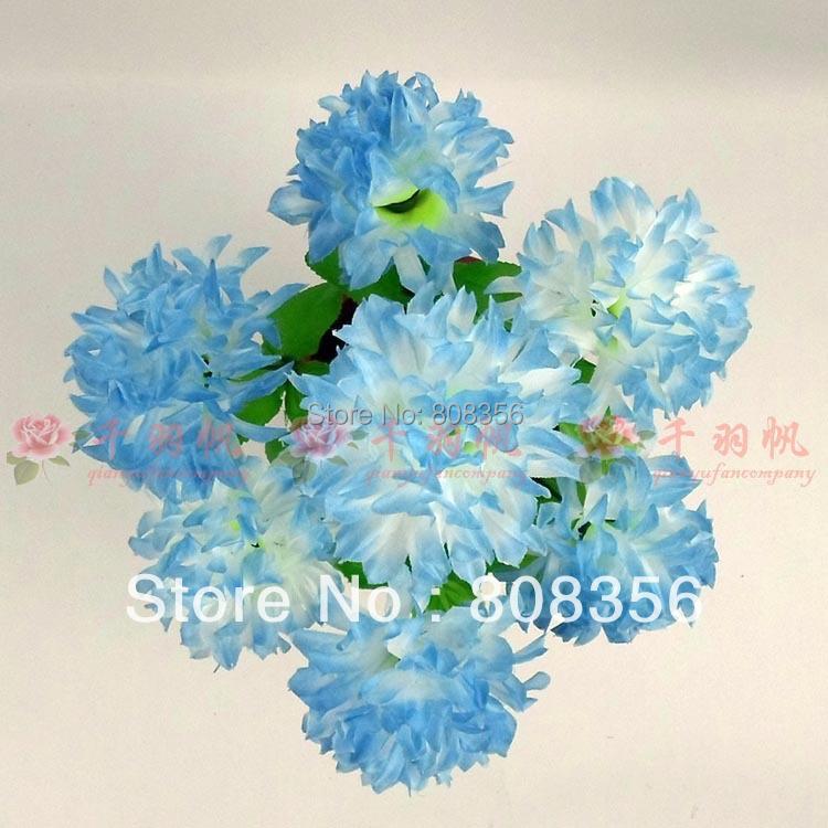 "20Pcs/lot 35cm/13.78"" Length Artificial Flowers Simulation Chrysanthemum Gerbera Daisy Wedding Flower Eight Colors Available(China (Mainland))"