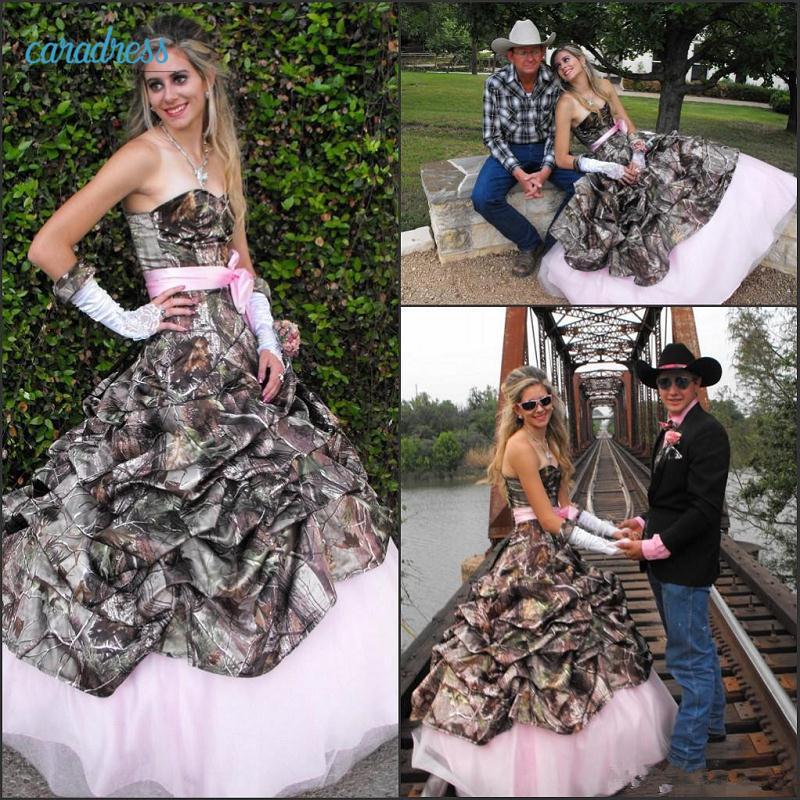 Sexy camo wedding dresses
