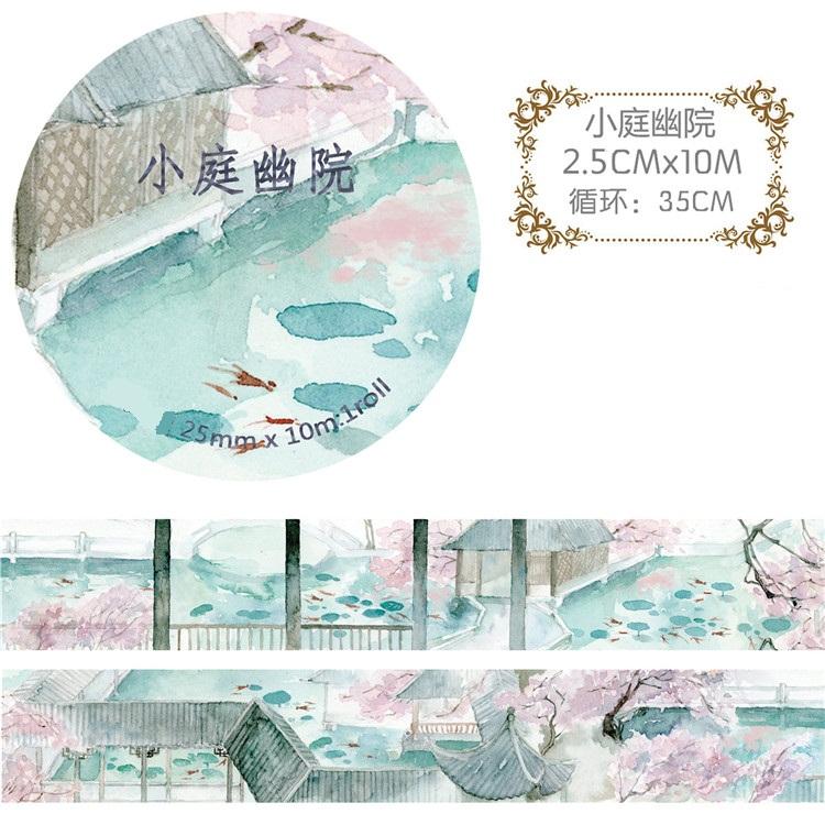 NEW ARRIVAL 2.5CM*10M Washi Paper Tape Patio/Garden/House Japanese Design Tape Adhensive Tape Photo Album Decorative(China (Mainland))