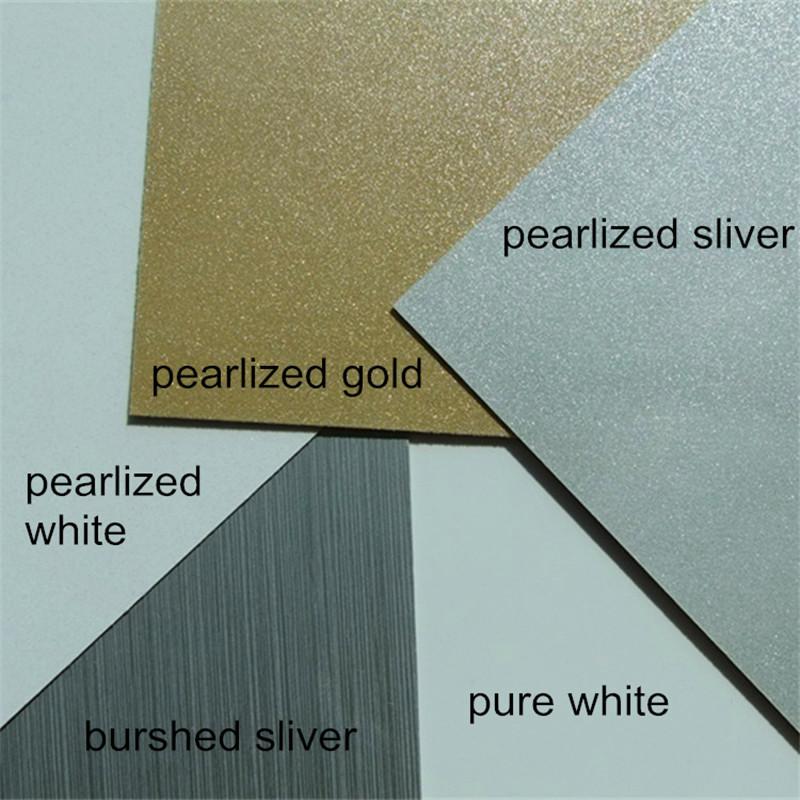 0.5mm thickness print heat transfer metal plate aluminium plate Pearl board Identification card material Thermal transfer(China (Mainland))