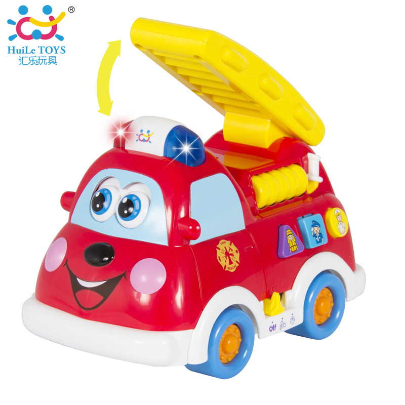 Baby Toy Electric Musical Fire Truck Toy with Flashing Lights & Music Kids Educational Toys Teaching Spanish & English Leaguage(China (Mainland))