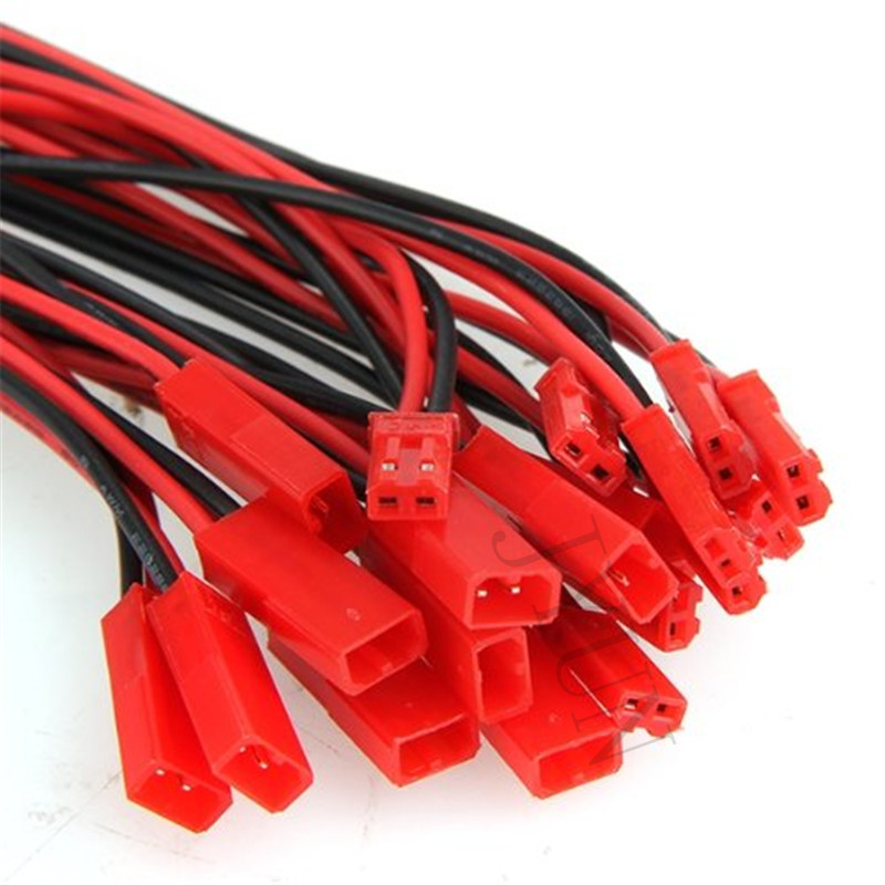 lower prices Hot 20pcs 100mm JST Connector Plug Cable 10pcs Male+10pcs Female for RC Battery Free shipping