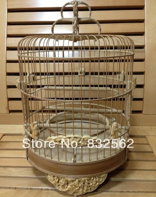 Koop 24 cm gesneden bamboe vogelkooi kwaliteit bamboe kooi shi ba luo han - Decoratie kooi ...