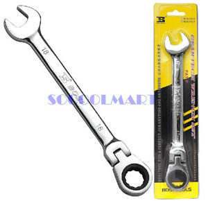 HIGH QUALITY 1Pcs 13mm U Shaped Open Ring End Reversible Combination Ratchet Wrench Tool *