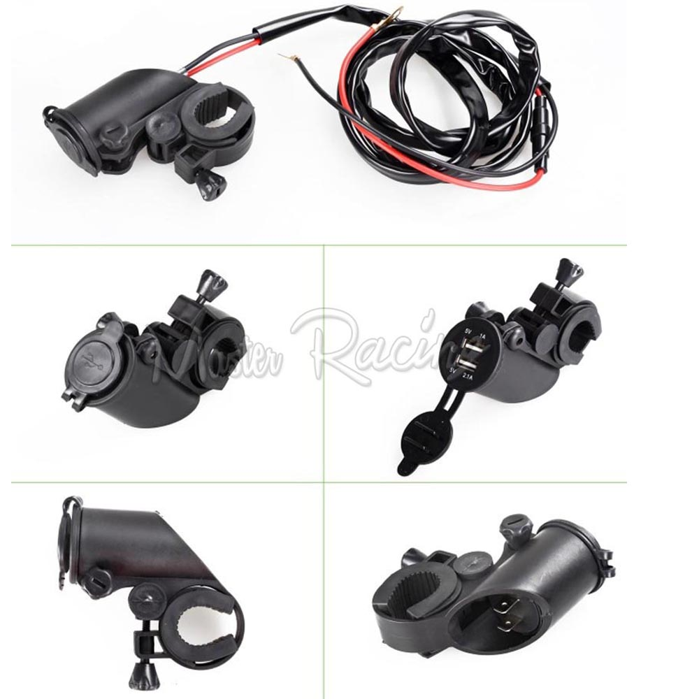 New Motorcycle car Dual USB Charger Adapter Socket Power Outlet 12V 24V LED Moto bike Motorcycles intelligent new function(China (Mainland))
