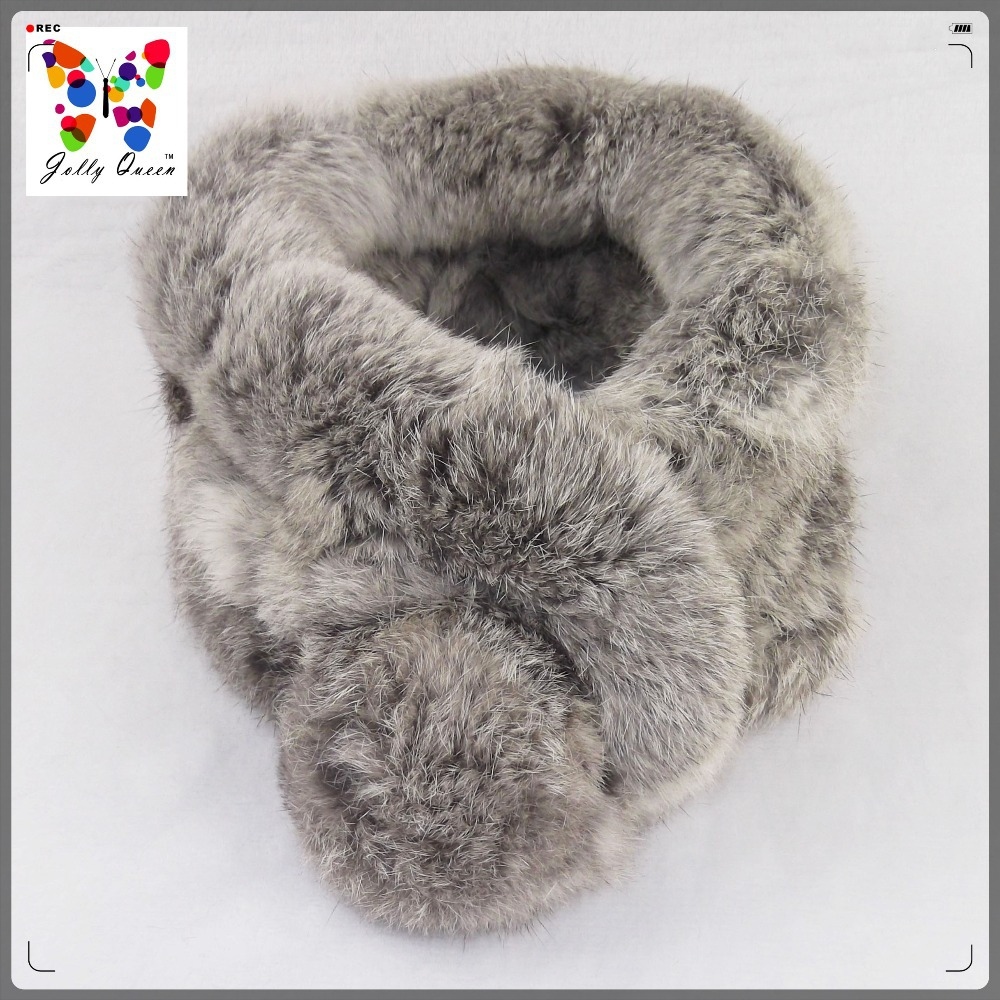 2015 Desigual Women Warm Genuine Real Rabbit Fur Scarf Winter Hijab Bufandas Ring Scarves Fluffy Muffler Free Shipping JQ7050(China (Mainland))