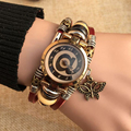 Excellent Quality Hot Antique Leather Bracelet Watches Vintage Women Wrist Watch Fashion Unisex Quartz Watches Relogio