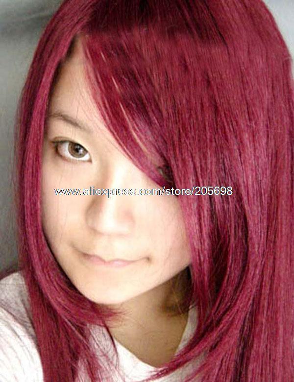 Гаджет  Wine Red Long Straight Hair 100cm Cosplay Wig anime halloween christmas Free Shipping None Изготовление под заказ
