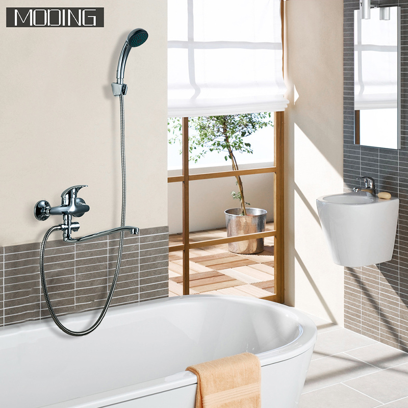 MODING 2017 Hand Shower Bathroom Shower Faucets 30cm Length Outlet Rotated Love Handle Bottom Brass #MD2139-B(China (Mainland))