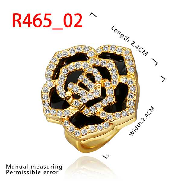 exo 18k gold plated wedding rings yellow edge black anel de ouro jewelry display SMTPR465(China (Mainland))
