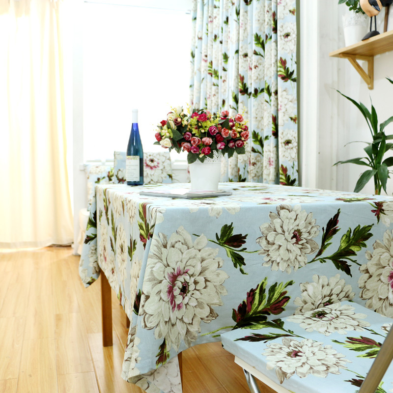 Handmade Good Quality 100% Natural Cotton Customize European Style Tablecloths Rectangle, Square, Round Coffee Table Covers(China (Mainland))