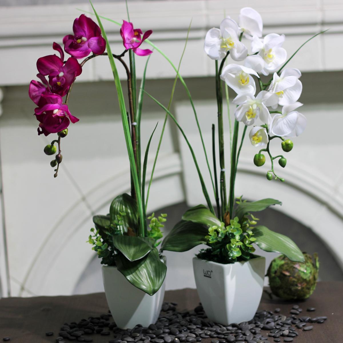 flower set ceramic flower pot home dining table