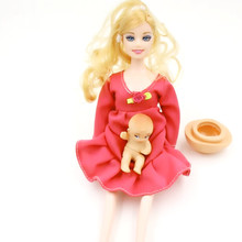 Baby Toys Pregnant Doll With A Mini Baby In Belly Baby Alive Reborn Winx Doll In Her Tummy Real Happy Family For (China (Mainland))