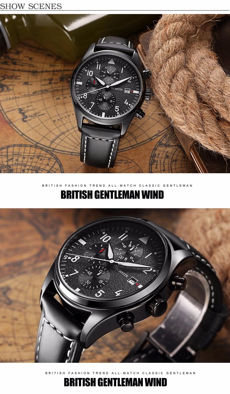 Relogio masculino OCHSTIN Часы Мужчины Военный Кварцевые Часы Хронограф Мужские Часы Лучший Бренд Роскошные Кожаные Спортивные Наручные Часы