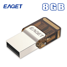 Eaget V9 Usb Otg Flash Drive 64GB USB 2.0 & Micro Usb Double Plug Smartphone Pen Drive For Android 4.0 Above Pass H2test