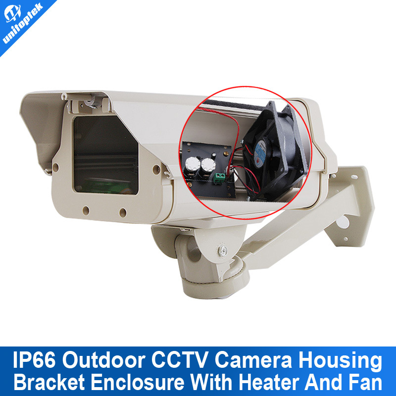 IP66 Outdoor CCTV Camera Housing Built-in Heater,Fan Aluminum Alloy For No IR Camera With Bracket For Extreme Cold Or Warm(China (Mainland))