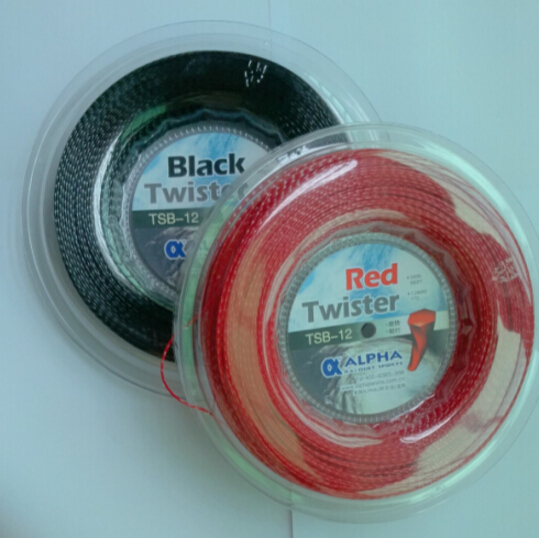 1 Reel Alpha Black Twist tennis String Reel tennis string/made in germany/Polyester strings