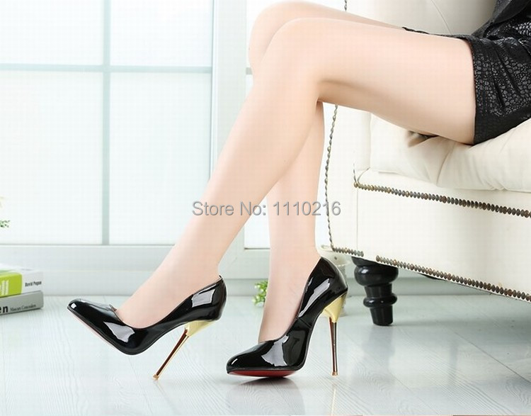 hot sale new 2016 women sexy open toe high heels fashion patent leather thin heeled peep toe pumps party wedding dress shoes