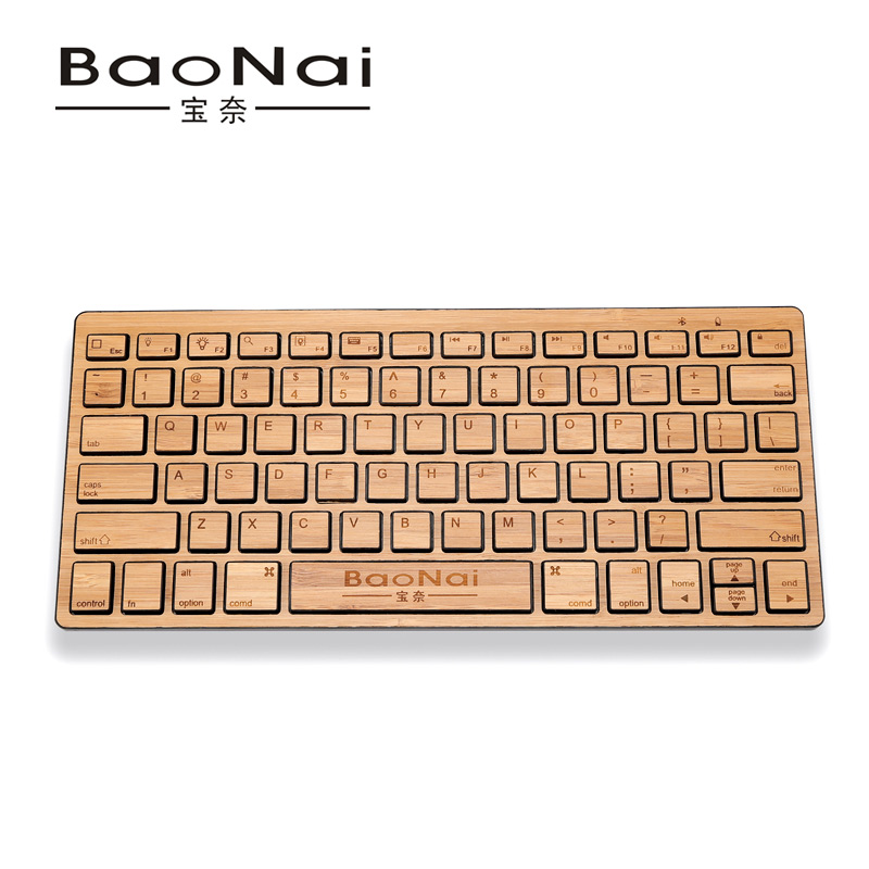 Bamboo keyboard kb1801 bluetooth keyboard ultra-thin laptop keyboard for for apple for for SAMSUNG flat panel phone keypad(China (Mainland))