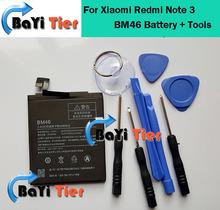 Для Xiaomi Redmi Note 3 Батарея BM46 Высокое Качество 4000 мАч Back-up аккумулятор для Xiaomi Redmi Note 3 Смартфон на складе + Инструменты