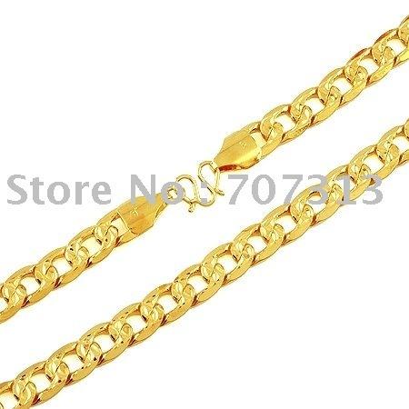 fashion jewrlry women/men 18k gold filled noble chain necklace jewelry jewellry chain necklace gift jewelry