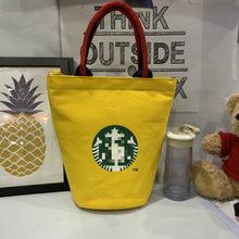 Nouveau modèle a une tasse d'eau comme un sac de boîte à déjeuner de tambour tenu dans la main de toile et un sac de maman sac à déjeuner Simple imperméable à l'eau hommes femmes Studen(China)
