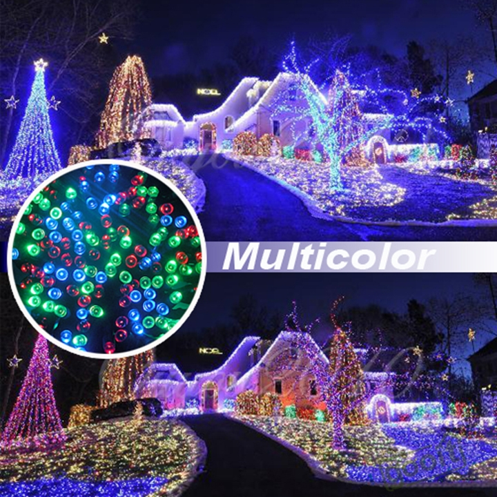 outdoor rgb solar power led string fairy light christmas string lights