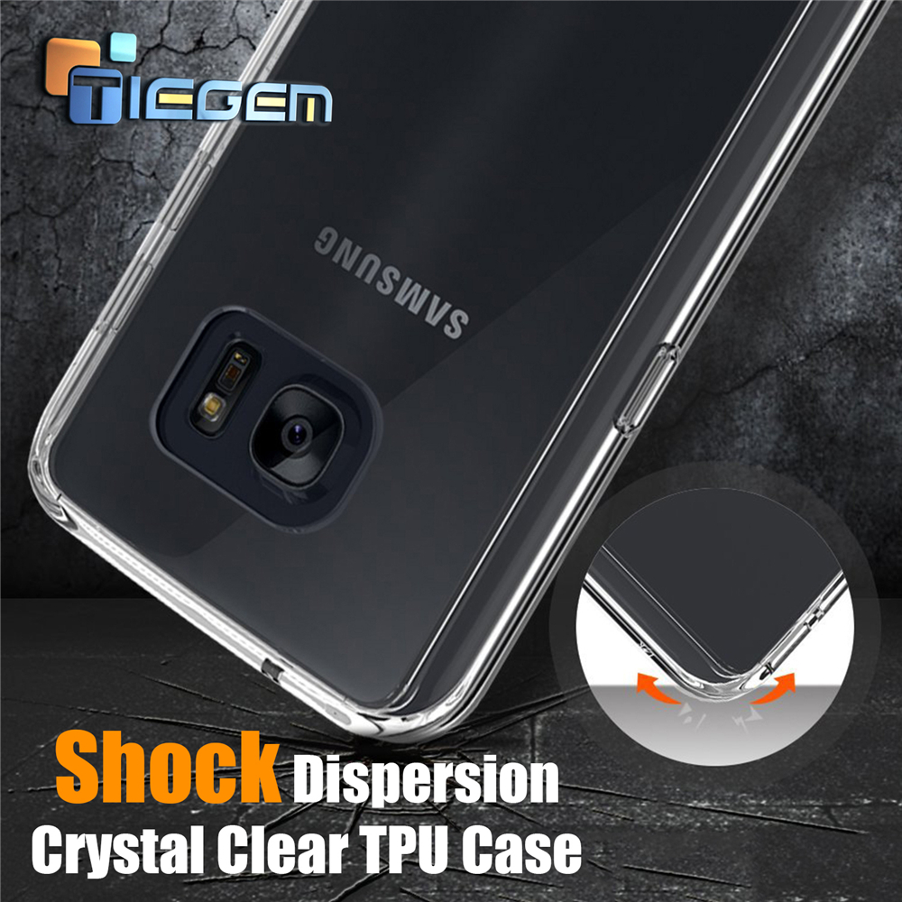 TIEGEM Case Coque For Samsung For S6 S7 Shock Protect Crystal Clear TPU Case Cover Phone Shell For G5 / NEXUS 5X 6P / P9 Mate 8(China (Mainland))