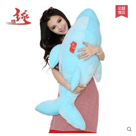 stuffed animal large 90cm pink or blue dolphin plush toy ,birthday Gift w9698(China (Mainland))