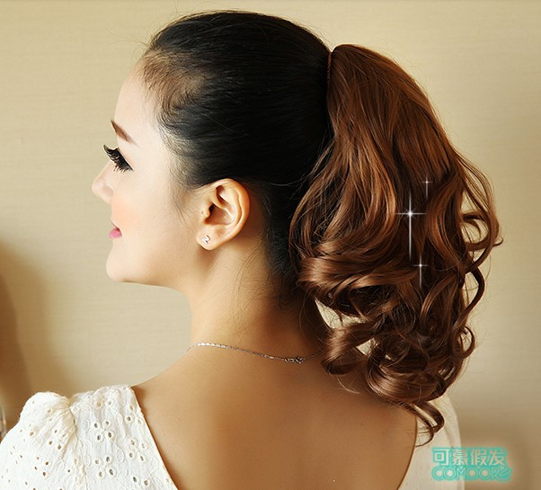 12, 5 colors, cute wavy Ponytails, Synthetic hair ponytail, Wigs Hair Extensions, 1pcs<br><br>Aliexpress