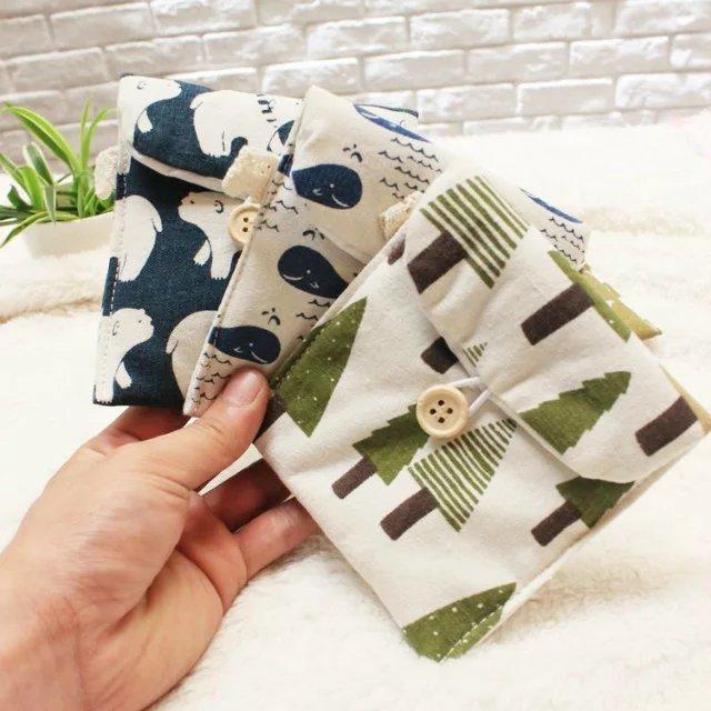 Daily household Female Hygiene Sanitary Napkins Package,Organizer Storage bag Purse Case, Tree/Whale/Bear/Hedgehog/Multicolor(China (Mainland))