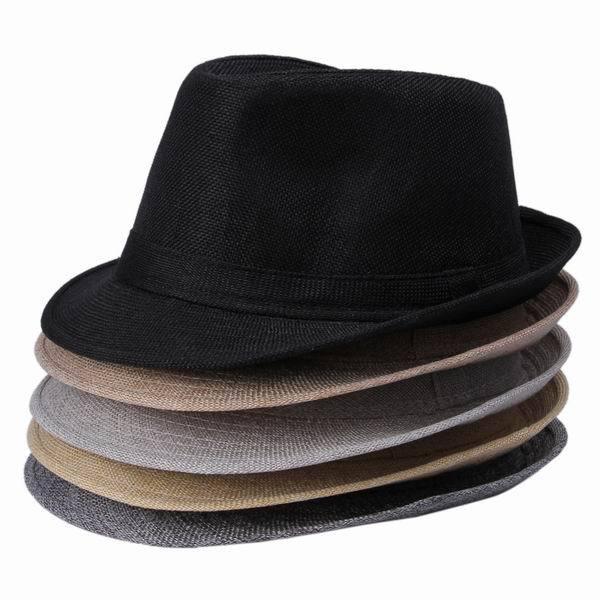 Hot Sale 2015 Summer Women Men Unisex Casual Hemp Cotton Panama Hats Caps Trilby Jazz Hat Fedora Cap Free Shipping(China (Mainland))