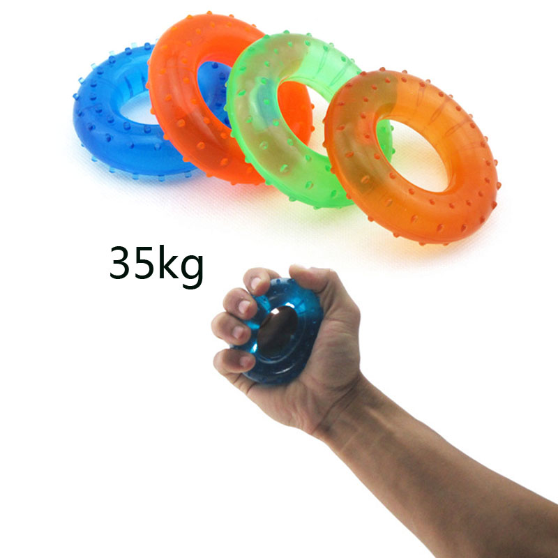 35KG Strength Hand Grip Muscle Power Training Rubber Easy Carrier Hand Grips Fitness Rubber Ring Exerciser Expander Gripper(China (Mainland))
