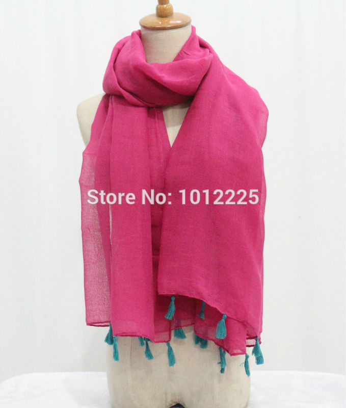 2016 Viscose thin soft close skin comfortable 8colours plain tassel solid Classic boutique Islamic headscarf fall autunm scarfs(China (Mainland))