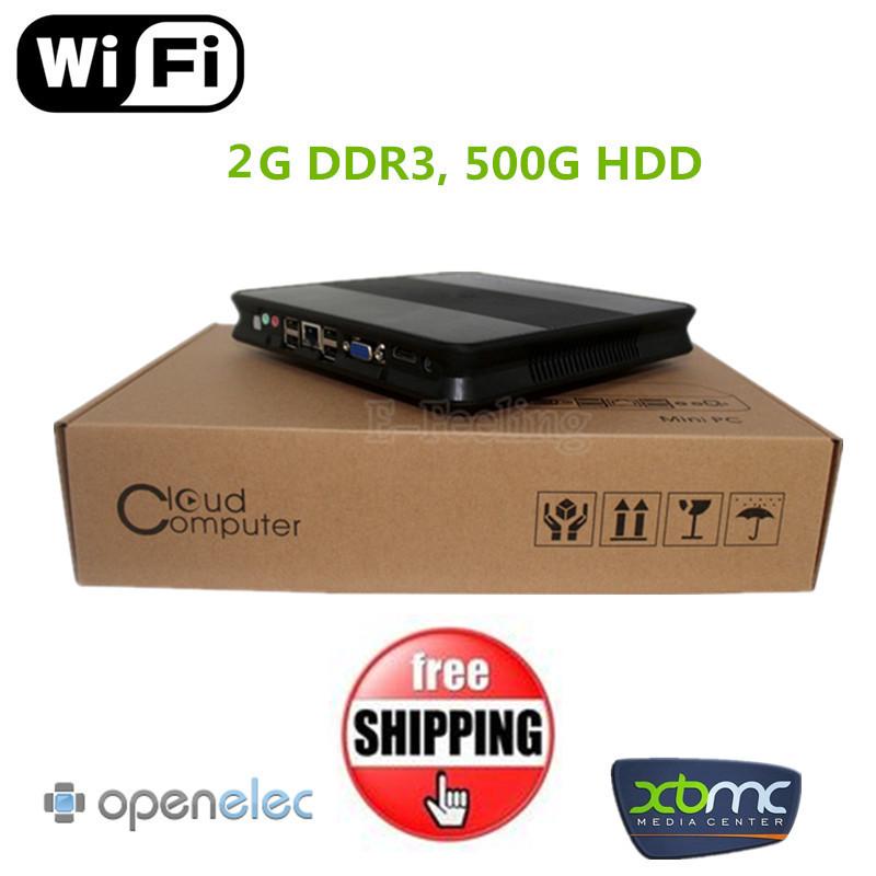 150M Wifi Optional DHL Free Shipping Windows/Linux HDMI+VGA 2G DDR3 500G HDD AMD E240 Network Terminal Cloud Computing(China (Mainland))