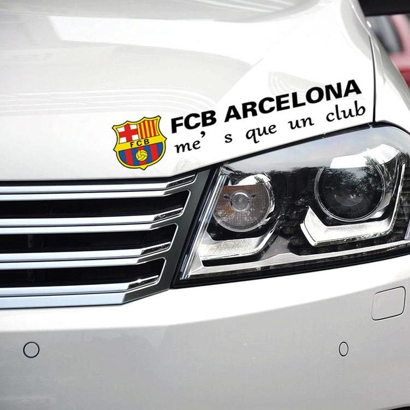 Hot 30x9cm Car styling Car Stickers Euro-Premium fc Barcelona Logo for Cars Acessories Decoration, Car Cover S-874(China (Mainland))