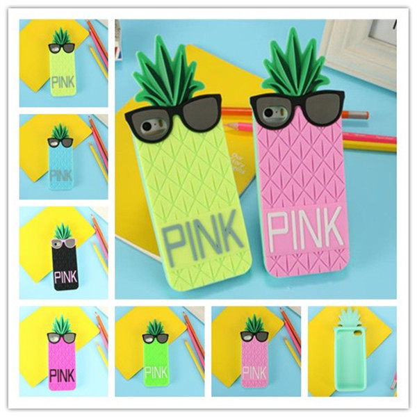 2014 Victoria/s Secret PINK Case 3D Silicone Fashion Fruit Pineapple Star's Love Soft Cover iphone 5 5s 5g 4 4s - Aimee Hill (HK store Co.,LTD.)