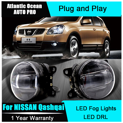 Auto Pro Car Styling LED fog lamps For NISSAN Qashqai led DRL lens For NISSAN Qashqai LED fog lights led daytime running lights